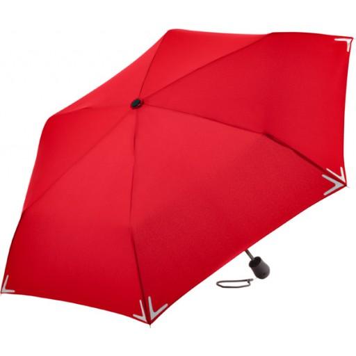 Safebrella® LED Mini-Taschenschirm | Rot | hochwertige Markenschirme von Fare