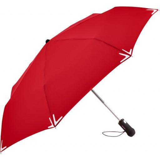 Safebrella® LED AOC Mini-Taschenschirm | Rot | hochwertige Markenschirme von Fare