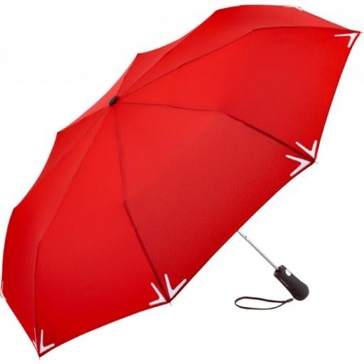 Safebrella® LED Automatik Mini-Taschenschirm | Rot | hochwertige Markenschirme von Fare