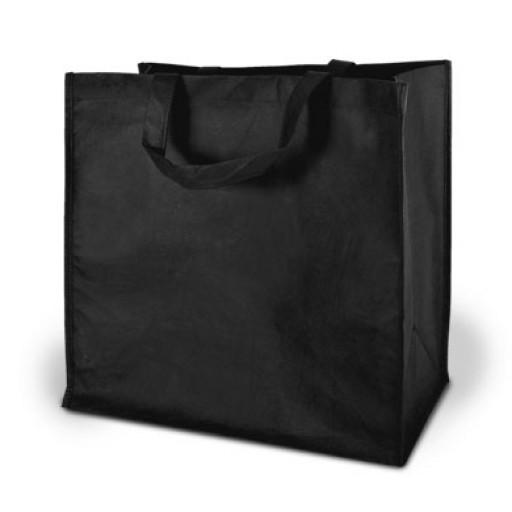 Einkaufstasche Moskau, schwarz mit Ihrem Werbedruck