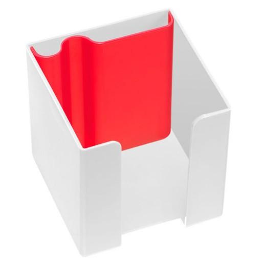 Zettelbox   Weiß / Rot