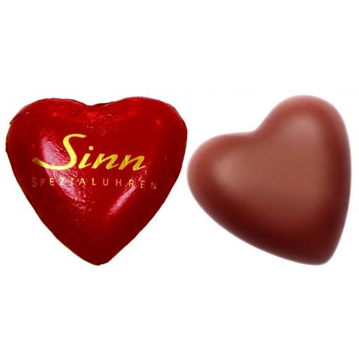 Shokolade Herz als Werbegeschenk