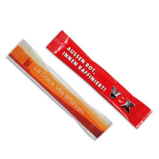 Zuckerstäbchen als Werbegeschenk