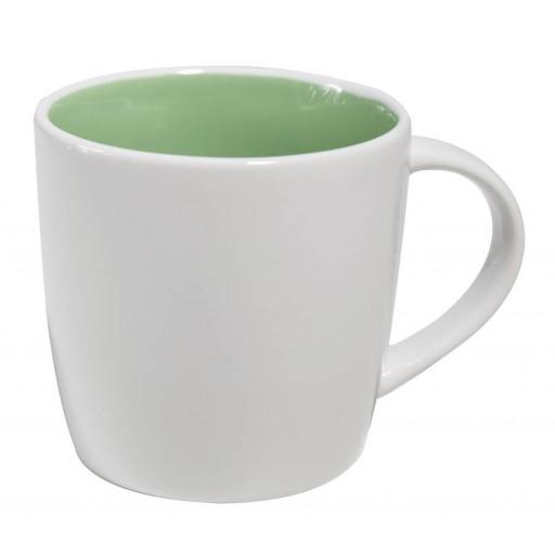 Tasse Emilia weiß/grün als Werbemittel