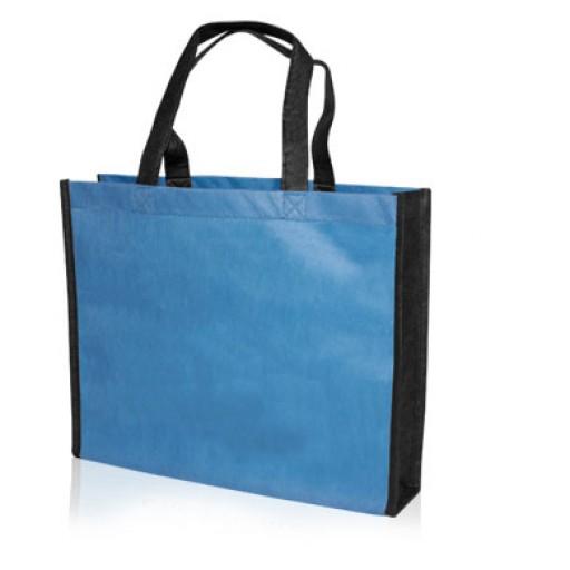 Non-Woven-Tasche Bergen, babyblau mit Ihrem Werbedruck