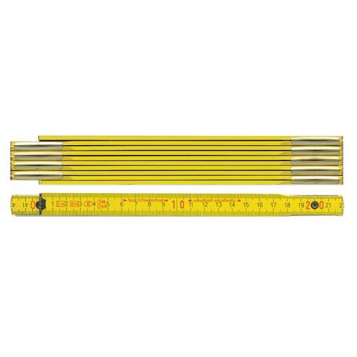 Holz Zollstock 9002 | 2 m | gelb