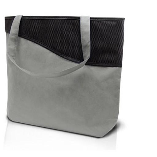 Reisverschluss-Tasche Lille, Grau mit Ihrem Werbedruck
