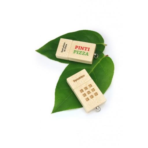 Express-Holz-USB-Stick EcoWood II | Helles Holz | 2 GB