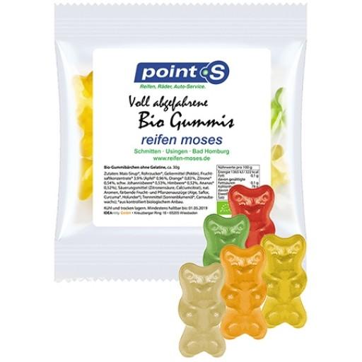 Bio Gummibärchen mit Gelatine, ca. 30g, Express Maxi-Tüte mit Etikett