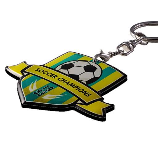 Individueller Schlüsselanhänger Hard-Tag bis 10 cm² | 1-seitig | Schwarz