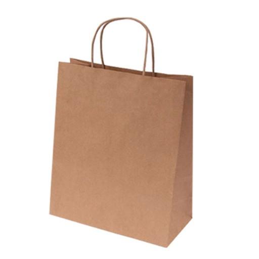 Express-Papiertasche | 31 x 12 x 41 cm | Braun | 1-farbiger Druck auf einer Seite