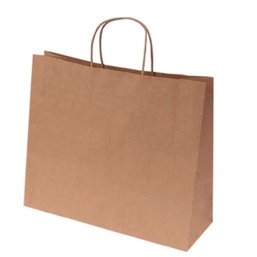 Express-Papiertasche | 50 x 18 x 39 cm | Braun | 1-farbiger Druck auf einer Seite
