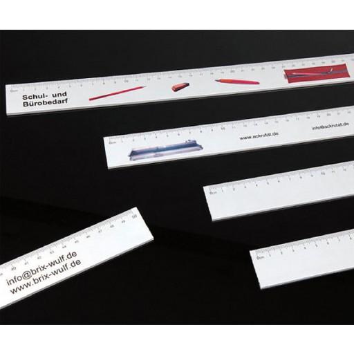 Aluminium-Lineal (flach, breit) 30 cm | Silber