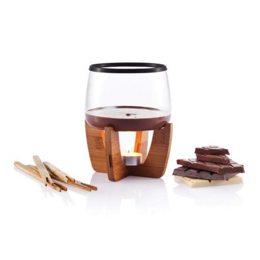 Cocoa Schokoladenfondue Set, schwarz/braun