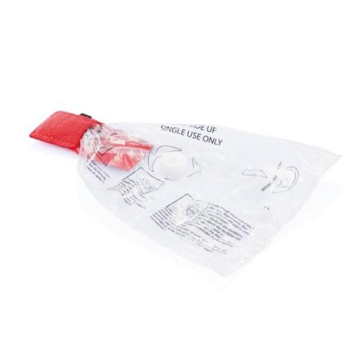 CPR Maske für den Schlüsselbund, rot