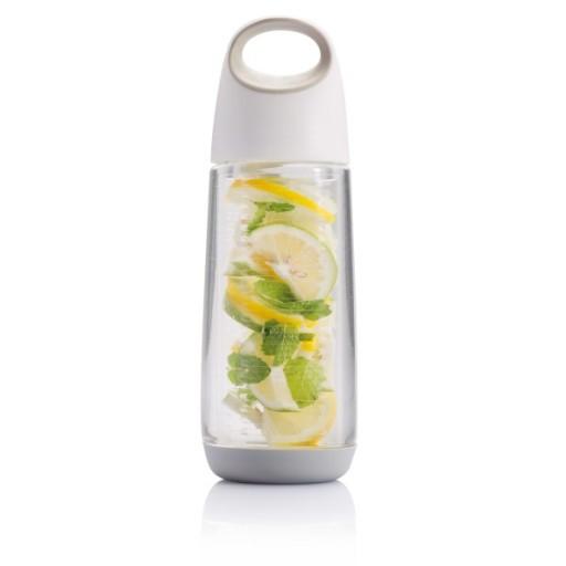 Bopp Fruit Flasche mit Aromafach, weiß/grau