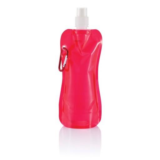 Faltbare Wasserflasche mit Karabiner, rot