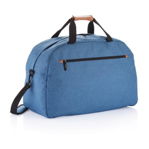 Modische Duo Tone Reisetasche PVC frei, blau