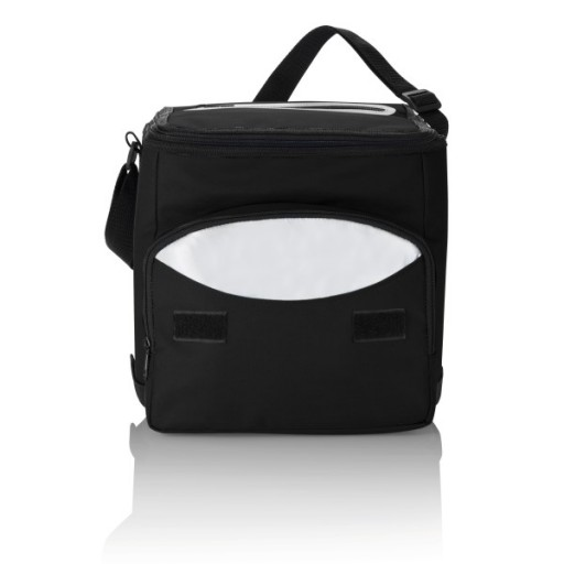 Kühltasche faltbar, schwarz/silber