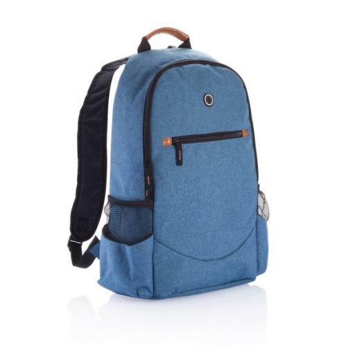 Modischer Duo Tone Rucksack PVC frei, blau