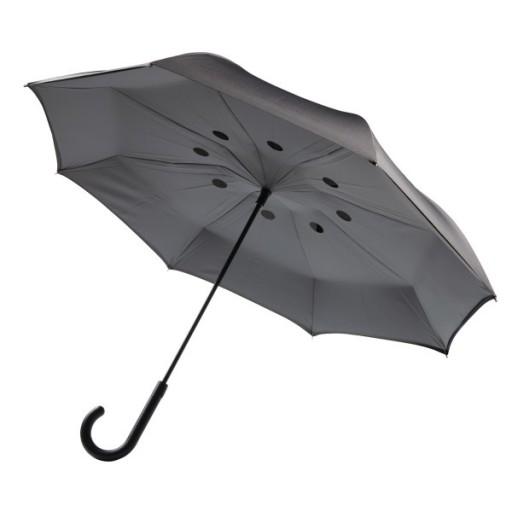 Umgekehrter Regenschirm 23'' Zoll, grau
