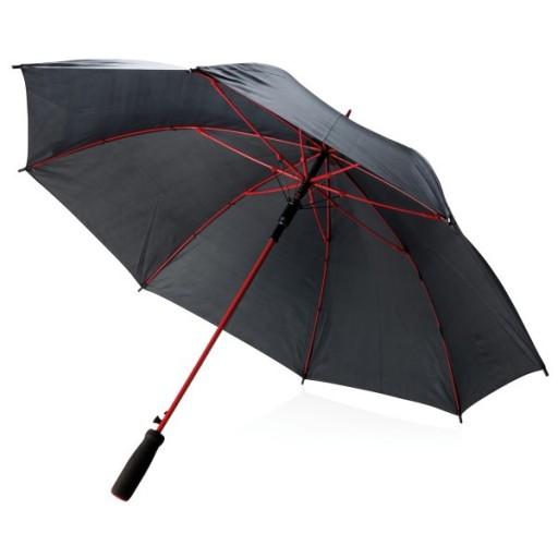 """23"""" Fiberglas Regenschirm, rot"""