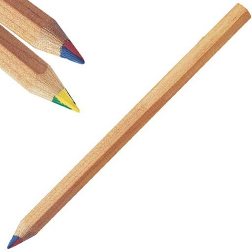 Zertifizierte Regenbogen-Stifte sechseckig JUMBO | Ohne Werbeanbringung