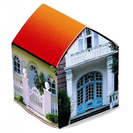 Häuschen mit Zwergsonnenblume