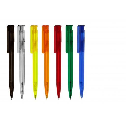 Kugelschreiber Star ICE | Schwarz-transparent | blau-schreibend günstig bedrucken lassen