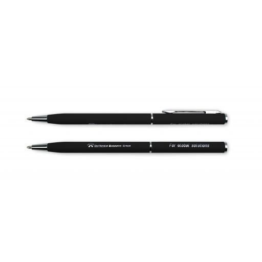 Express-Kugelschreiber Superior Mini | blau-schreibend | Schwarz
