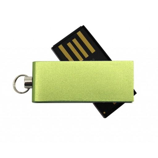 Aluminium-USB-Stick Micro Twister | 2 GB | Grün als Werbeartikel