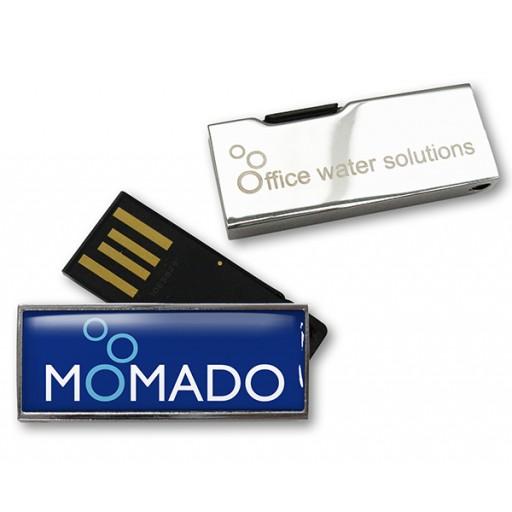 Wasserdichter USB-Stick Solid Twist | 2 GB | Silber