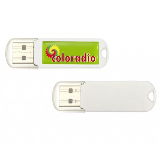 Individueller USB-Stick Spectra 2.0 | 2 GB | Weiß