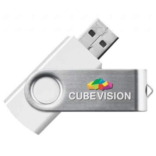 Express-USB-Stick Twister | Weiß | 2 GB