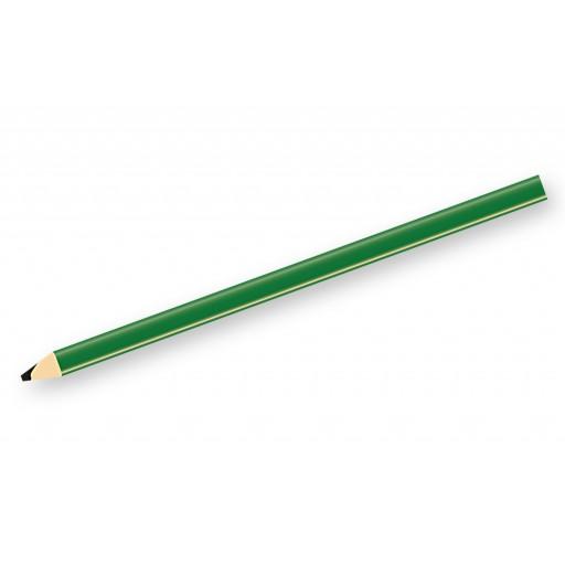 Zimmermannsbleistift, 240 mm, grün, angespitzt als Werbeartikel