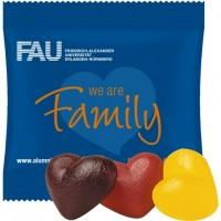 Bio Fruchtgummi-Herzen ohne Gelatine (vegan), (2 Stück) ca. 8g, Mini-Tüte