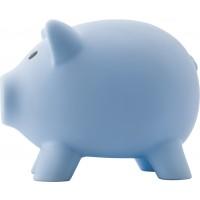 Sparschwein  'Porky' aus Kunststoff | Hellblau