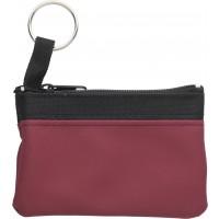 Schlüsseletui 'Zip' aus PU/Nylon | Bordeauxrot