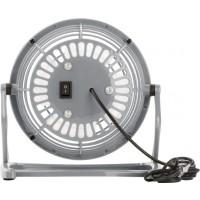USB-Ventilator 'Hurricane' aus Kunststoff | Grau