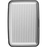 Visitenkartenhalter 'Suitcase' aus Aluminium | Silber