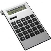 Tischrechner 'Highline' aus ABS-Kunststoff | Schwarz/Silber
