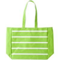 Strandtasche 'Linea' aus Polyester  | Limettengrün