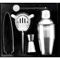 Cocktailshaker-Set aus Edelstahl