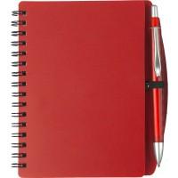 Notizbuch 'Spektrum' aus Kunststoff | Rot
