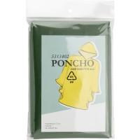 Poncho 'Wet' aus PEVA | Olivengrün