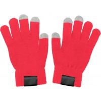 Handschuhe 'Touch' aus Acryl | Rot