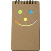 Notizbuch 'Happy face' aus Karton