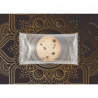 Bio Cookie Schoko-Orange, ca. 7g, Express Flowpack auf Werbekarte