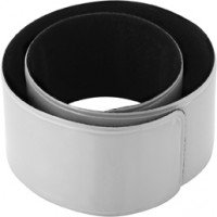 Snap-Armband 'Promo' reflektierend | Silber