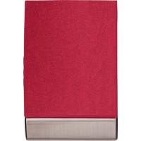 Visitenkartenhalter 'Business' aus Metall | Rot